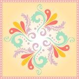 Круговая флористическая картина предпосылки Стоковая Фотография
