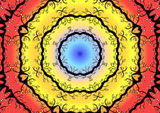 круговая цветастая иллюстрация стоковая фотография rf