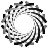 Круговая, цикловая спираль, элемент вортекса Shap серой шкалы вращая Стоковые Фотографии RF
