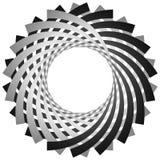 Круговая, цикловая спираль, элемент вортекса Shap серой шкалы вращая Стоковое Изображение