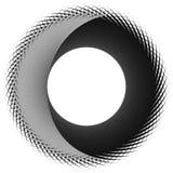 Круговая, цикловая спираль, элемент вортекса Shap серой шкалы вращая Стоковое фото RF