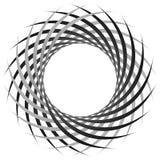 Круговая, цикловая спираль, элемент вортекса Shap серой шкалы вращая Стоковая Фотография RF