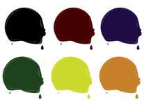 круговое капание elemen краска Стоковое Изображение RF
