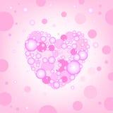 Круговое сердце производит эффект предпосылка Стоковое Изображение