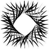 Круговой абстрактный мотив, элемент, форма Monochrome геометрический el Стоковое Фото