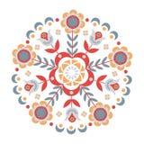 Круговой абстрактный флористический орнамент Стоковое фото RF