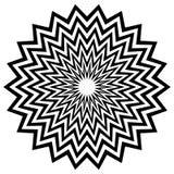 Круговой геометрический мотив, абстрактная мандала, геометрическая форма бесплатная иллюстрация