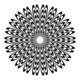 Круговой геометрический мотив, абстрактная мандала, геометрическая форма иллюстрация вектора