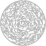 Круговой геометрический мотив Абстрактный элемент op-искусства серой шкалы иллюстрация штока