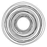 Круговой геометрический мотив Абстрактный элемент op-искусства серой шкалы бесплатная иллюстрация