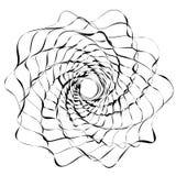 Круговой геометрический мотив Абстрактный элемент op-искусства серой шкалы Стоковые Изображения RF