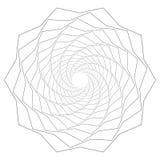 Круговой геометрический мотив Абстрактный элемент op-искусства серой шкалы Стоковые Изображения