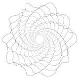 Круговой геометрический мотив Абстрактный элемент op-искусства серой шкалы Стоковые Фото