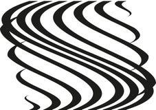 Круговой геометрический мотив Излучать форму Геометрический радиальный элемент Абстрактная черно-белая иллюстрация Стоковое фото RF