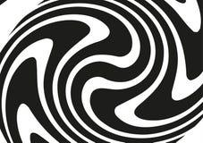 Круговой геометрический мотив Излучать форму Геометрический радиальный элемент Абстрактная черно-белая иллюстрация Стоковые Изображения RF