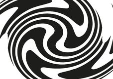 Круговой геометрический мотив Излучать форму Геометрический радиальный элемент Абстрактная черно-белая иллюстрация Стоковые Изображения
