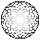 Круговой геометрический мотив, элемент, концентрические круги резюмирует s Стоковые Фотографии RF