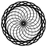 Круговой геометрический элемент, абстрактный мотив, мандала изолированная дальше Стоковое Фото