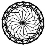 Круговой геометрический элемент, абстрактный мотив, мандала изолированная дальше Стоковые Фото