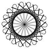 Круговой геометрический элемент, абстрактный мотив, мандала изолированная дальше Стоковое Изображение