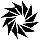 Круговой геометрический элемент Вращая формы, illu форм абстрактное Стоковая Фотография