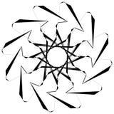 Круговой геометрический элемент Вращая формы, illu форм абстрактное Стоковое Фото