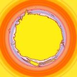 круговой желтый цвет градиента Стоковое фото RF