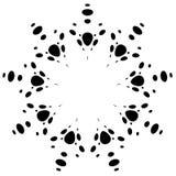 Круговой дизайн с эффектом искажения Абстрактное monochrome elem Стоковое Изображение