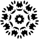 Круговой дизайн с эффектом искажения Абстрактное monochrome elem Стоковое фото RF
