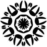Круговой дизайн с эффектом искажения Абстрактное monochrome elem Стоковая Фотография RF