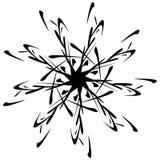 Круговой дизайн с эффектом искажения Абстрактное monochrome elem Стоковые Фотографии RF