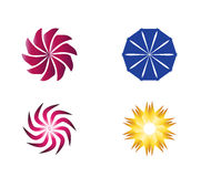 Круговой комплект элемента логотипа символа значка Стоковая Фотография