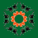Круговой кот картины Стоковое Изображение RF