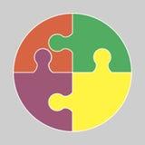 Круговой красочный значок иллюстрация вектора
