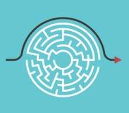 Круговой лабиринт, путь обхода Стоковые Фото
