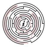 круговой лабиринт Стоковое Изображение