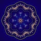 Круговой орнамент мандала Стоковая Фотография