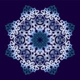 Круговой орнамент на голубой предпосылке Стоковая Фотография