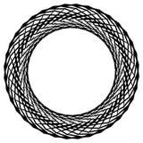 Круговой радиальный геометрический элемент изолированный на белой предпосылке Стоковые Фото