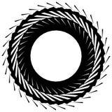 Круговой радиальный геометрический элемент изолированный на белой предпосылке Стоковая Фотография