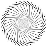 Круговой радиальный геометрический элемент изолированный на белой предпосылке Стоковое Изображение RF