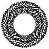 Круговой радиальный геометрический элемент изолированный на белой предпосылке Стоковое Фото