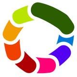Круговой родовой символ, значок - бары Rotated перекрывая, rounde иллюстрация штока