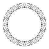 Круговой спиральный элемент Абстрактный геометрический элемент круга иллюстрация вектора