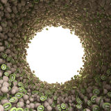 Круговой тоннель кивиа Стоковое фото RF