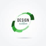 Круговой элемент дизайна Абстрактная иллюстрация вектора с баром поджатия Стоковое Фото