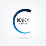 Круговой элемент дизайна Абстрактная иллюстрация с баром поджатия Стоковая Фотография RF