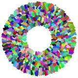 Круговой элемент мозаики Multicolor круг с разбросанный, rando иллюстрация вектора