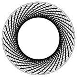 Круговой элемент сделанный радиальных линий абстрактная геометрическая форма Стоковая Фотография