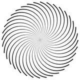 Круговой элемент сделанный радиальных линий абстрактная геометрическая форма Стоковые Фото